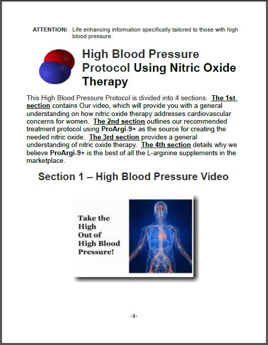 High Blood Pressure Protocol