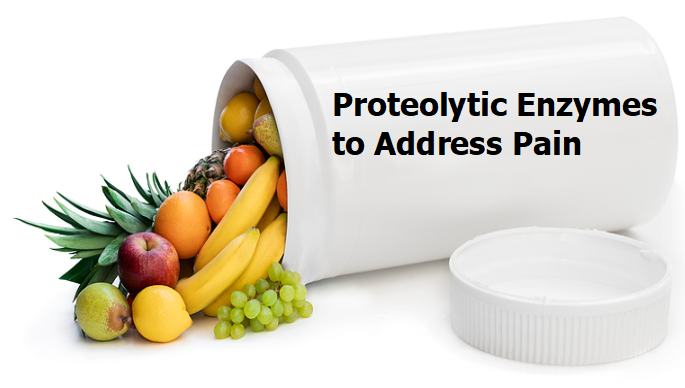Proteolytic enzymes to address pain